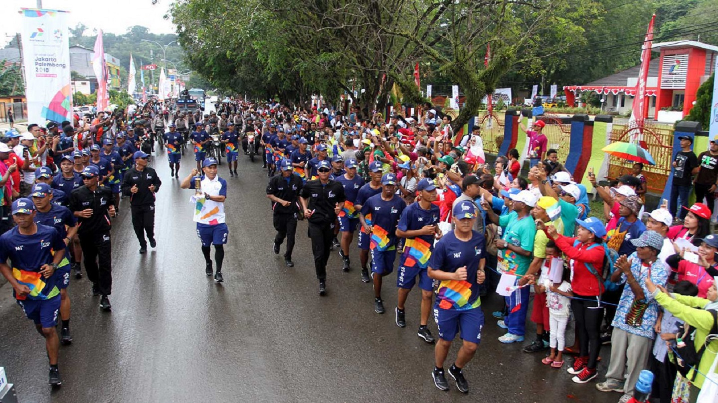 Asian Games Torch Relay 2018 in Indonesia