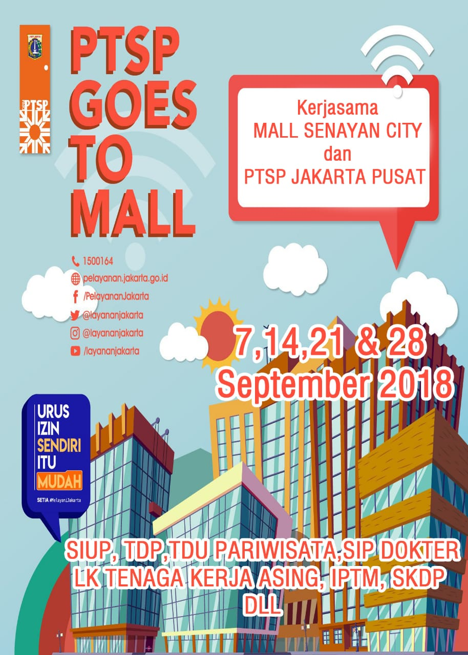PTSP Goes To Mall Senayan City on September 2018