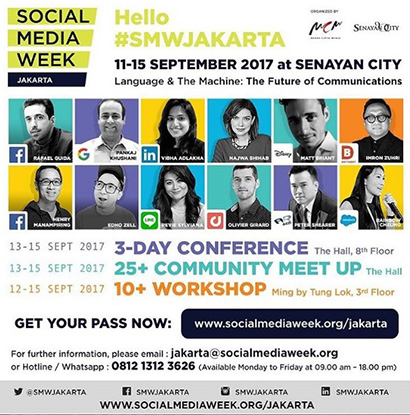 SOCIAL MEDIA WEEK JAKARTA 2017 OFFICIALLY START IN SENAYAN CITY