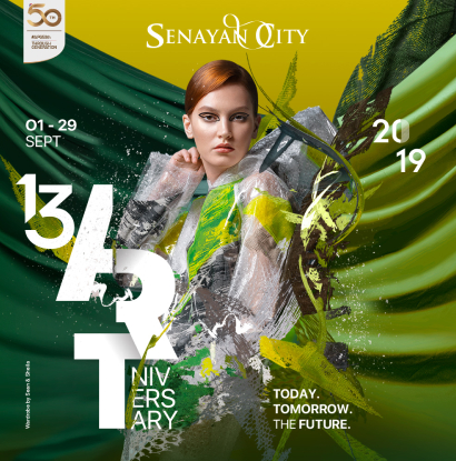SENAYAN CITY 13TH ARTniversary TODAY. TOMORROW. THE FUTURE.