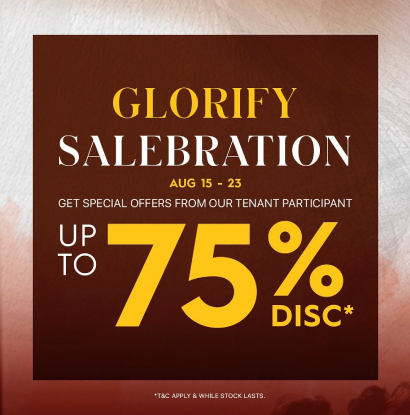 GLORIFY SALEBRATION SHOPPING PROGRAMS