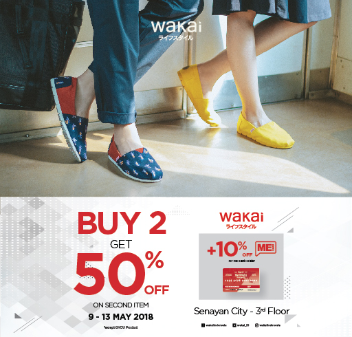 wakai BUY 2 GET 50% OFF on 2nd Items!