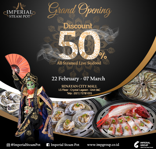 IMPERIAL STEAMPOT GRAND OPENING SPECIAL DISCOUNT