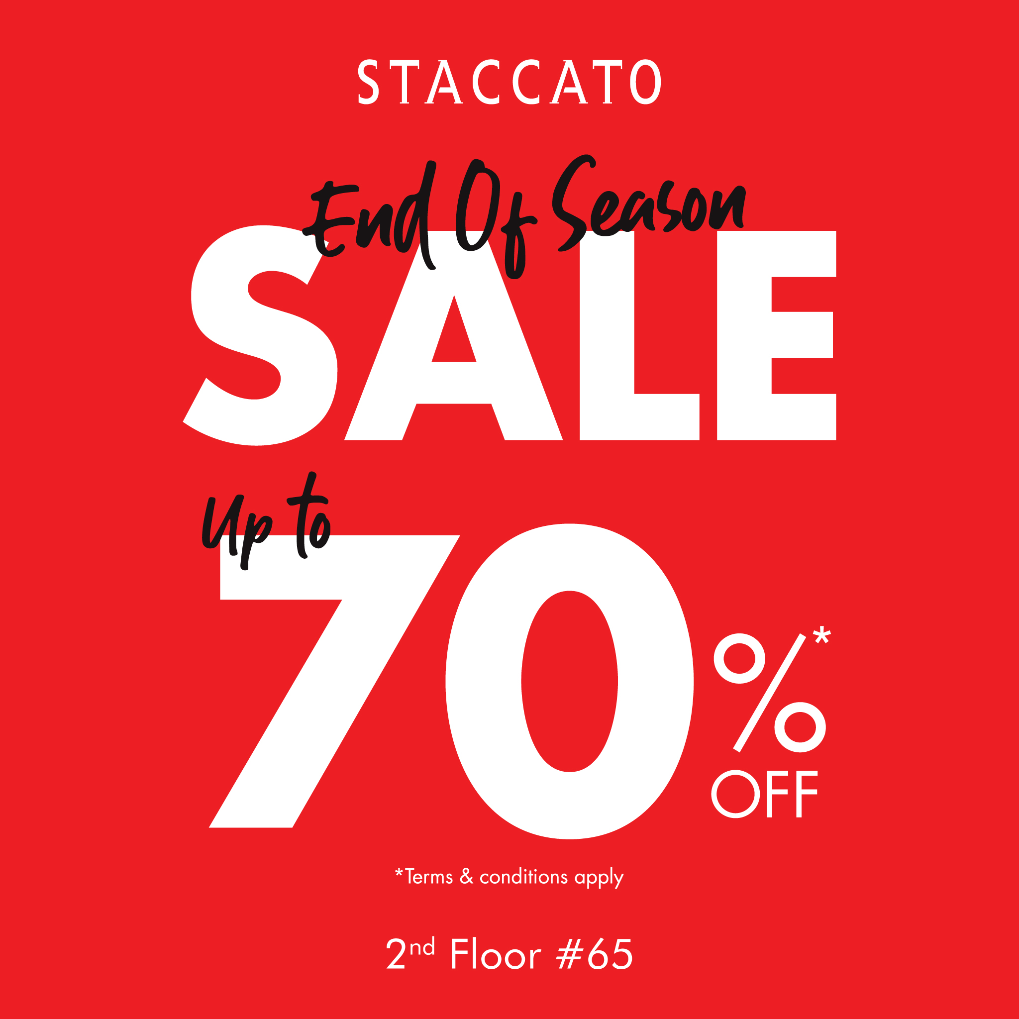 STACCATO END OF SEASON