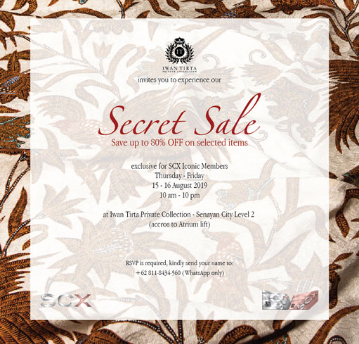IWAN TIRTA PRIVATE COLLECTION SECRET SALE