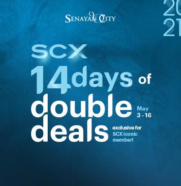 SCX 14 DAYS OF DOUBLE DEALS